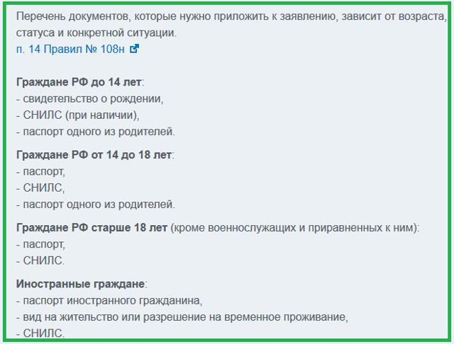 Запись на прием к врачу через интернет по полису ОМС: необходимые документы